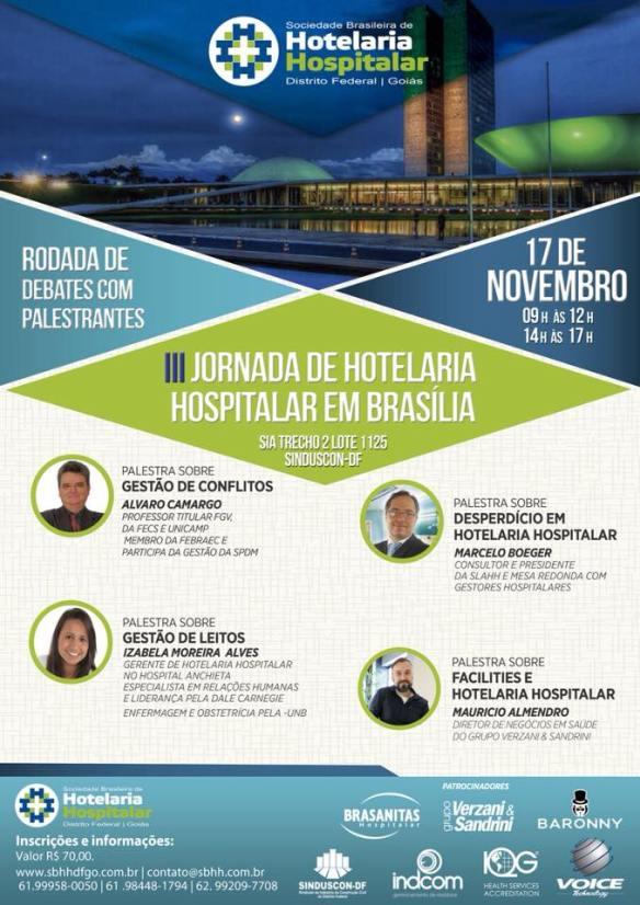 iii jornada hotelaria hospitalar brasilia